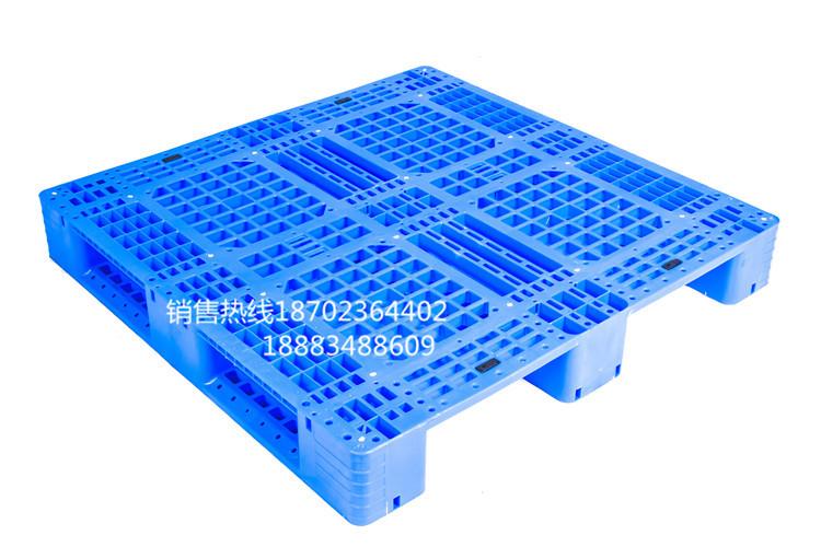 重庆1210网格塑胶卡板销售平板川字托盘塑料卡板平面叉车铲板货架托盘仓库防潮板1210栈板