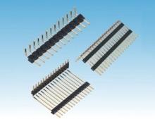 中尚精密電子1.27間距排針 雙排雙塑90度電子器件圖片