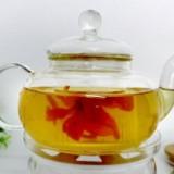 玻璃花茶壶  玻璃环保茶壶