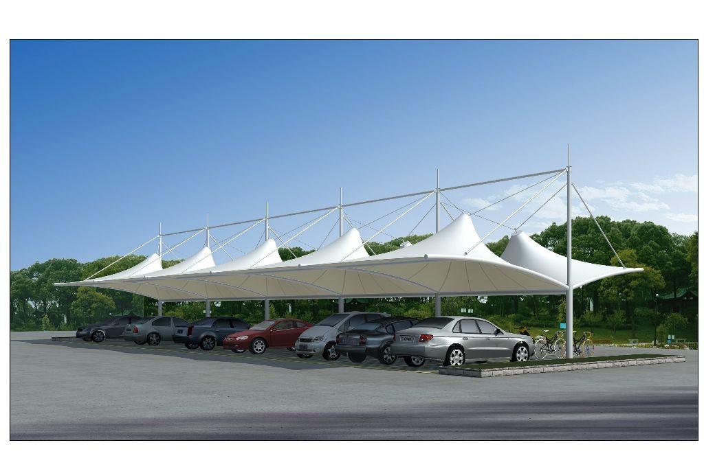 供应上海膜结构工程车棚 充电桩车棚 自行车遮阳棚厂家定制安装价格