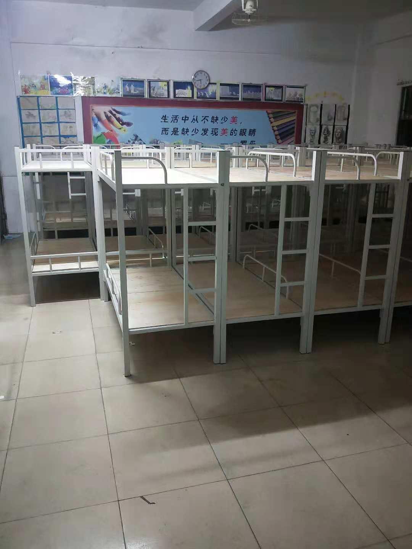 双层子母床 白色右爬梯下铺  厂家低价抛售  量大从优