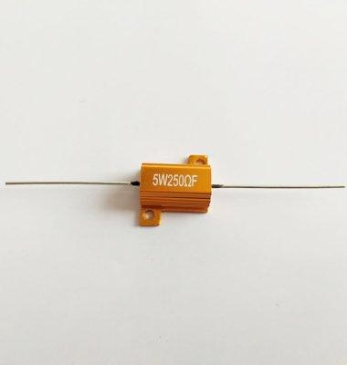 5W 黄金铝壳功率线绕电阻器图片/5W 黄金铝壳功率线绕电阻器样板图 (1)