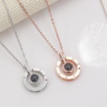河南五皇一后行运珠宝供应钛合金 钛合金项链爱的印记