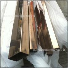 定制生产加工不锈钢彩色管 黄钛金不锈钢管 不锈钢玫瑰金管批发