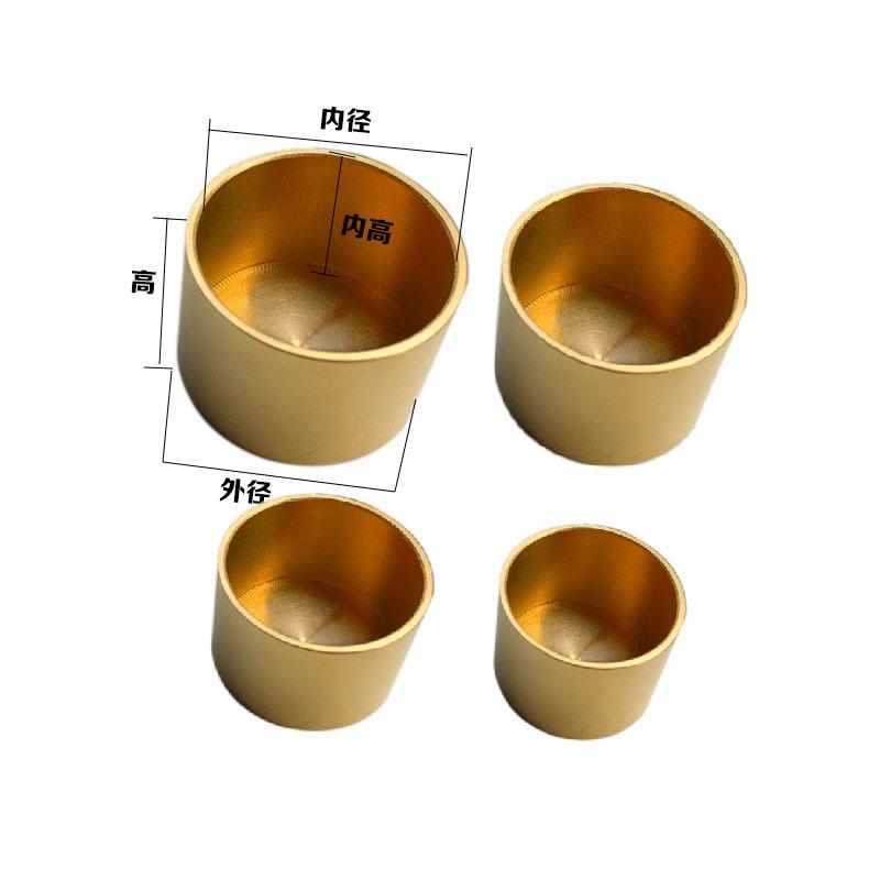 新中式家具圆形纯铜脚套桌椅把铜套 中山桌椅把铜套厂家 新中式家具圆铜套 新中式家具圆形纯铜脚套
