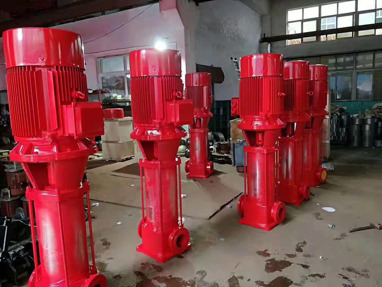 3KW稳压消防泵/视频安装喷淋泵XBD3.0/1.6-40G*3方便安装多级消防泵/不锈钢叶轮消火栓泵