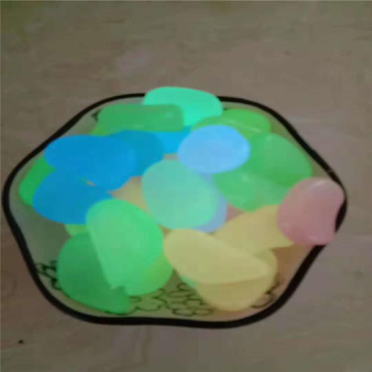 灵寿厂家供应 树脂石 夜光鹅卵石 夜光石 各种颜色
