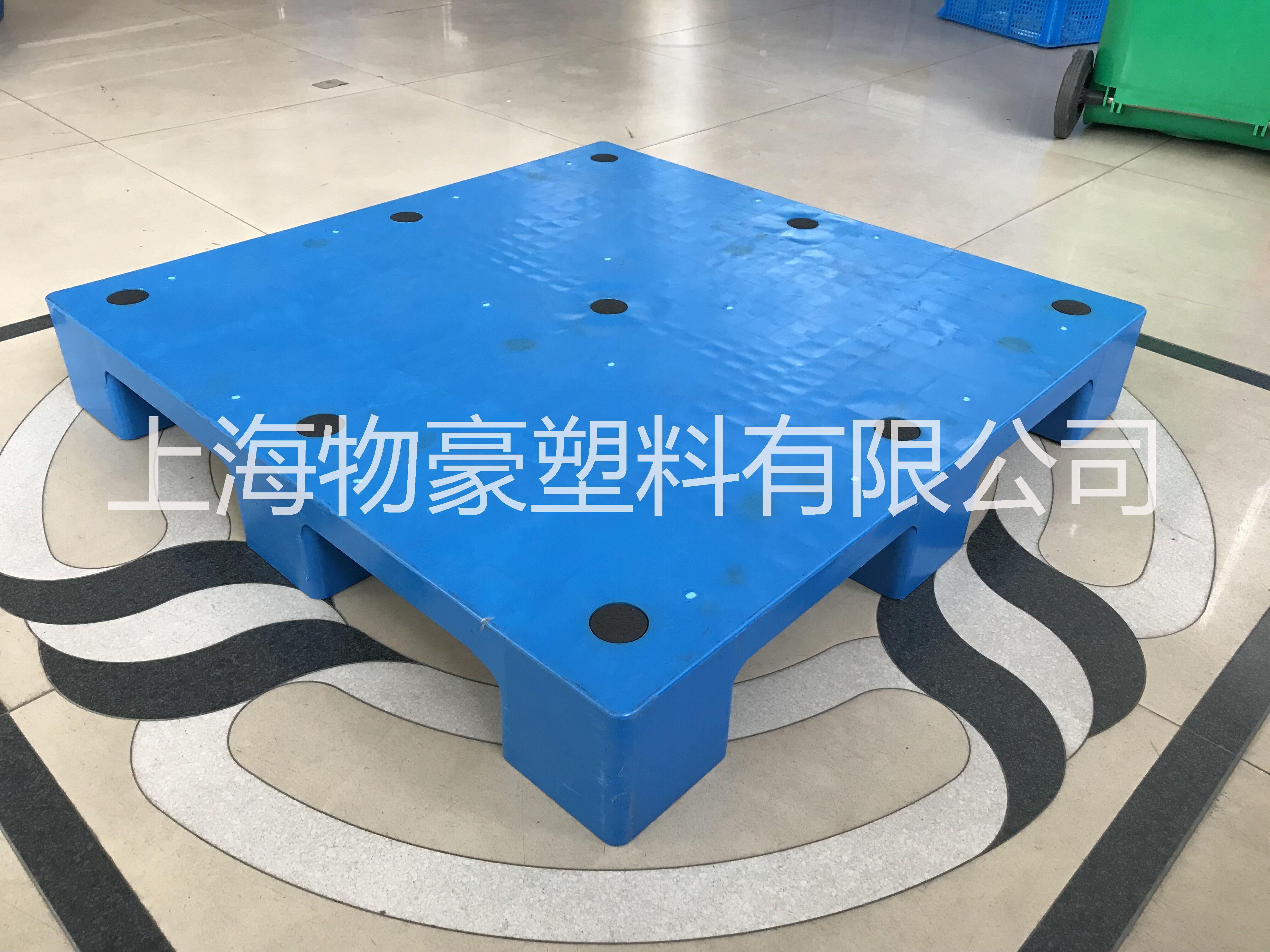 工厂直销1210平板九脚塑料托盘 货架托盘 塑料地托