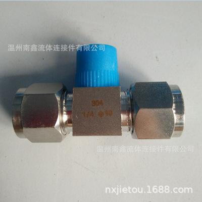 不锈钢304材质卡套三通终端接头Φ10-1/4-Φ10三通终端卡套接头