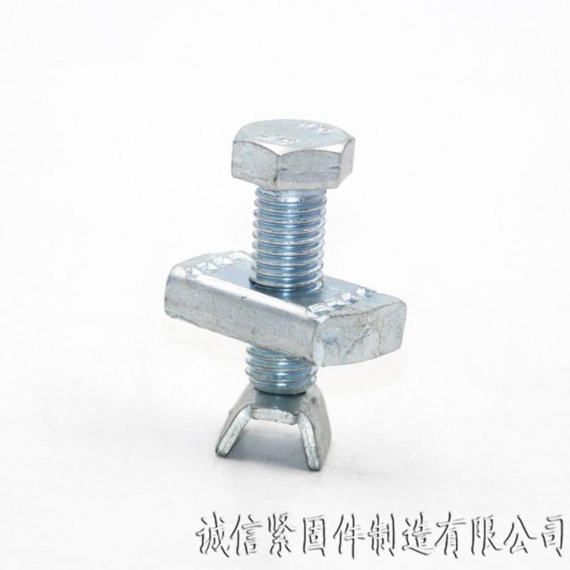抗震支架加强筋 厂家直销 12*9加强筋螺栓 抗震配件螺栓 大量现货 抗震配件加强筋