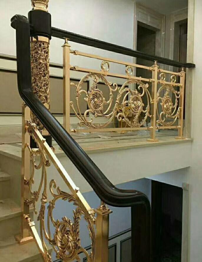 铝艺楼梯扶手 铝艺楼梯扶手  铝艺旋转扶手  室内楼梯扶手