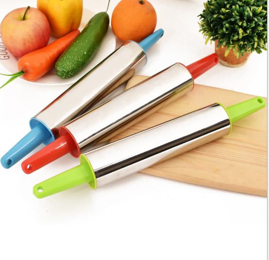 不锈钢擀面杖擀面棍压面棍 擀饺子皮 滚轴压面棒赶面棍杆面棍棒 擀面棒