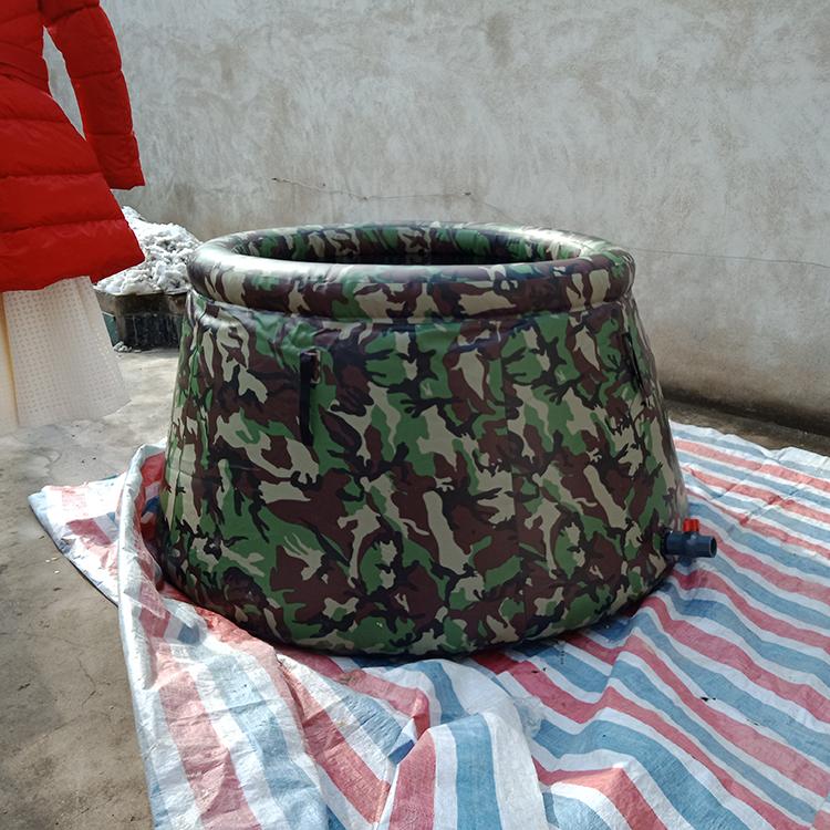 2吨迷彩森林消防储水袋 储水罐  便携式 可折叠
