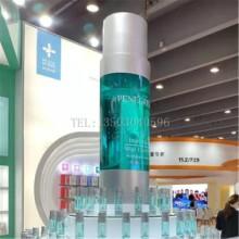 厂家专业定做 玻璃钢透明化妆瓶雕塑 玻璃钢化妆瓶雕塑 展会展品