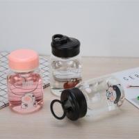 手机杯波比熊可爱表情卡通玻璃杯韩版创意水杯高硼硅女生花茶杯厂家直销