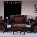 老挝大红酸枝交趾黄檀客厅沙发图片