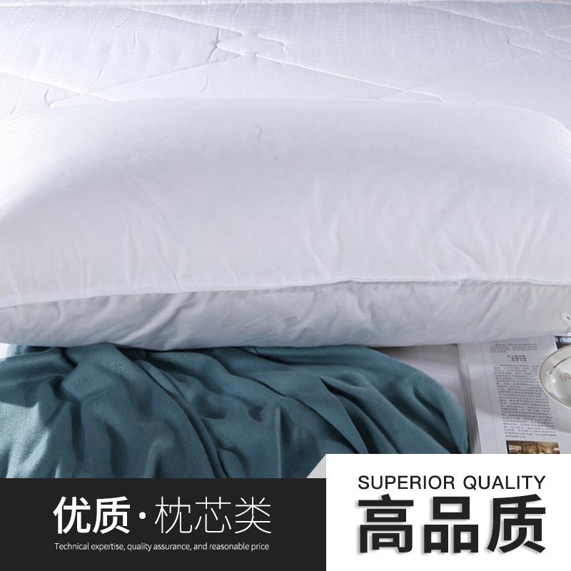 供应上海北京广州星级酒店枕芯宾馆羽丝绒枕芯可水洗枕头厂家批发