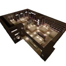 床上用品展柜 高档家纺烤漆展示高柜 家纺专卖店靠墙高柜  价格优惠批发