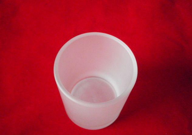 厂家直销上口径5.2*底径4.8*高度6.5CM磨砂杯供应 磨砂玻璃杯