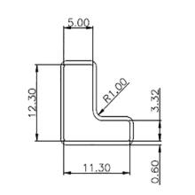 连创源头塑料包装管厂家 供应传感器模块塑料包装管定制