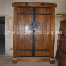 老榆木门定制 风化纹理老榆木旧门板 仿古桌面 落房梁板材 老家具批发