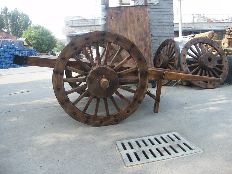 平板车交通运输 民间平板手推双轮马战车 优质古车 厂家提供制作