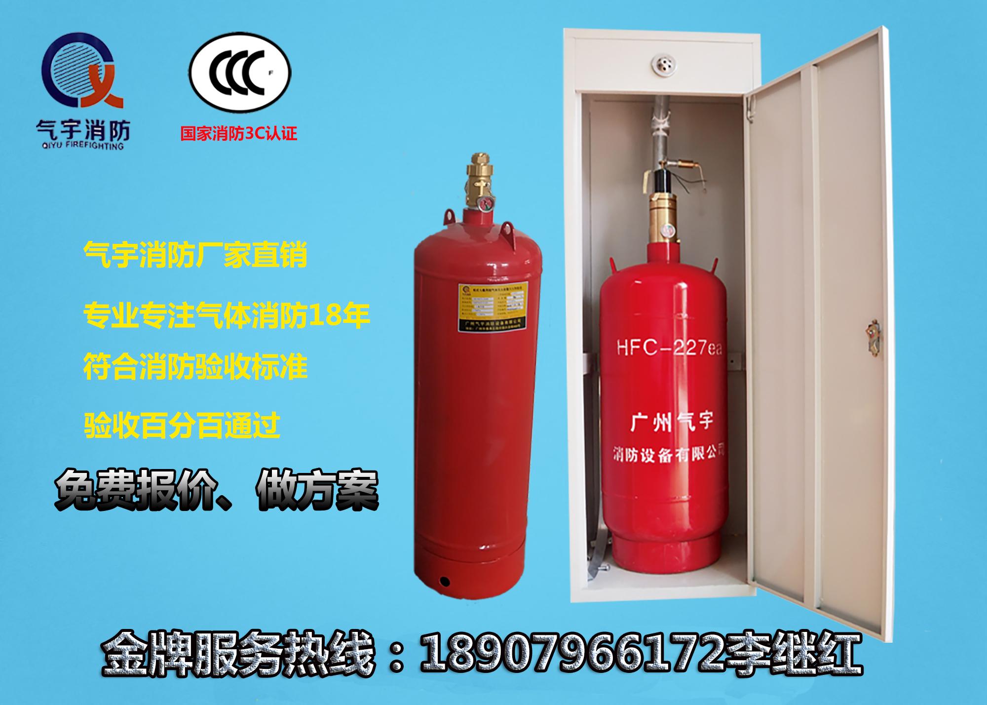 广东厂家热销  双瓶柜式七氟丙气体灭火装置  供应全国批发 零售