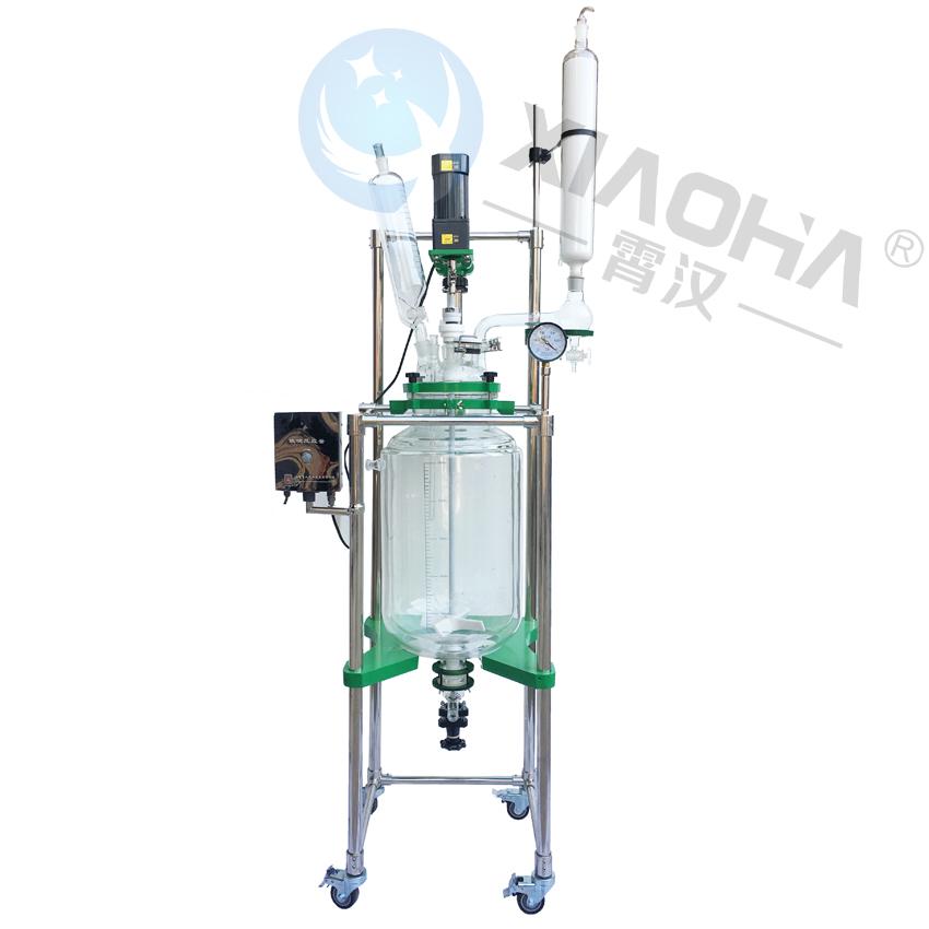 多功能玻璃反应釜双层玻璃反应釜真空玻璃反应器高温高真空玻璃釜
