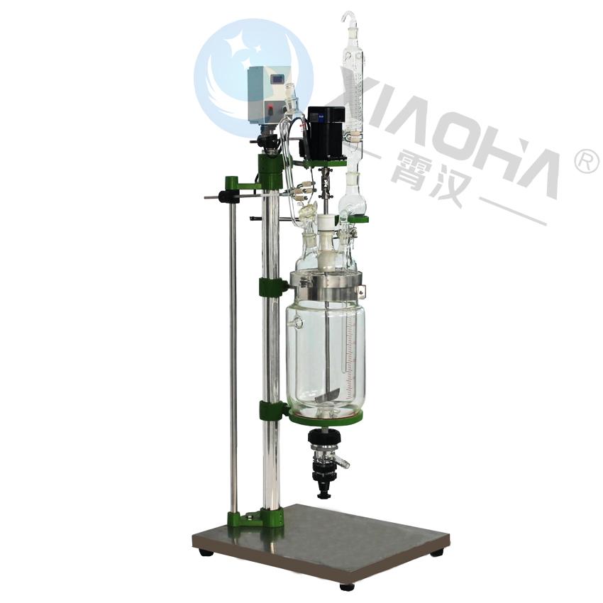 5L实验室多功能玻璃釜1L玻璃反应釜小型玻璃反应釜实验室反应釜价格