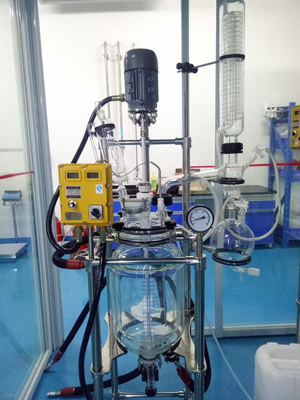 大容量双层玻璃反应釜1L玻璃反应釜实验室小型玻璃反应釜小型玻璃反应釜