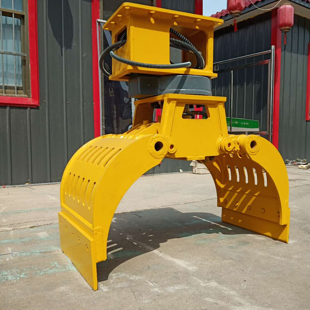 6吨挖掘机抓钳器 360度旋转抓钳器 挖掘机抓钳器