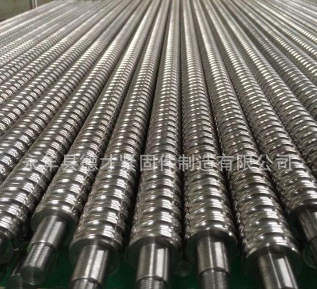 供应 全扣螺栓T型螺纹螺柱 梯型扣丝杠 T形牙扣螺纹螺栓厂家-供应商