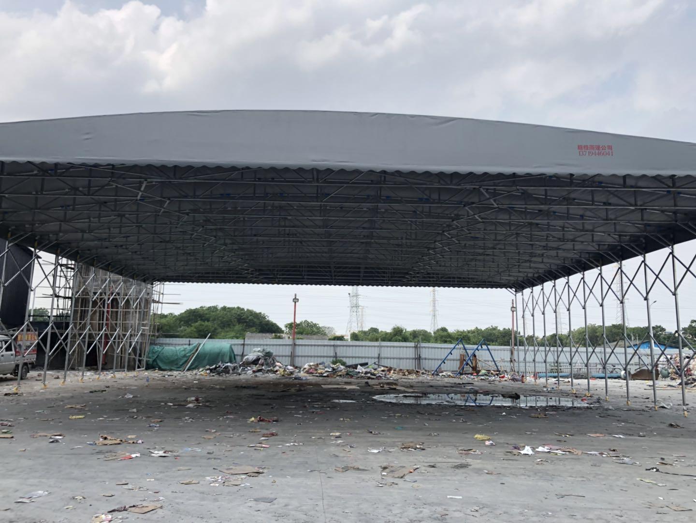 电动推拉蓬 伸缩折叠遮阳棚活 动大型帐篷厂家直销 品质保证雨棚