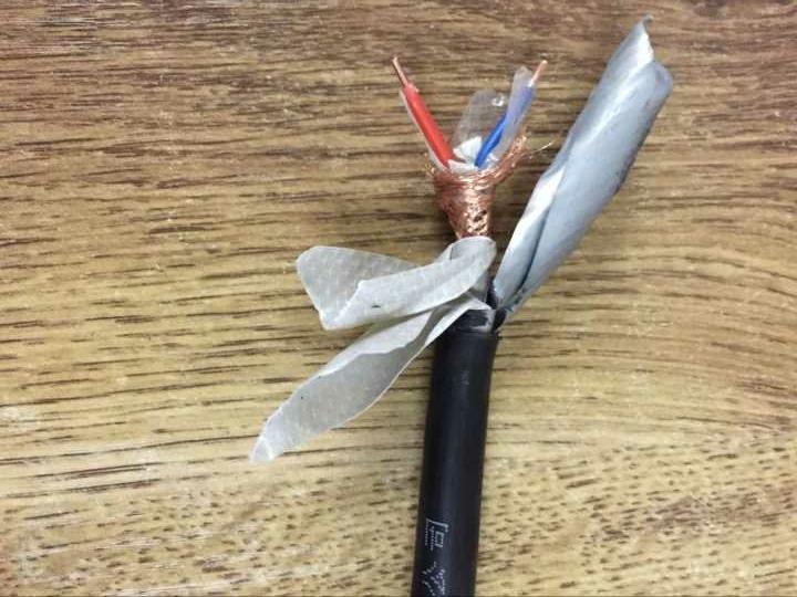 铜芯通讯电缆 双绞屏蔽信号线 RS485线缆ZR-DJYVP通讯电缆1*2*1.5 ZR-DJYVPR通讯电缆线