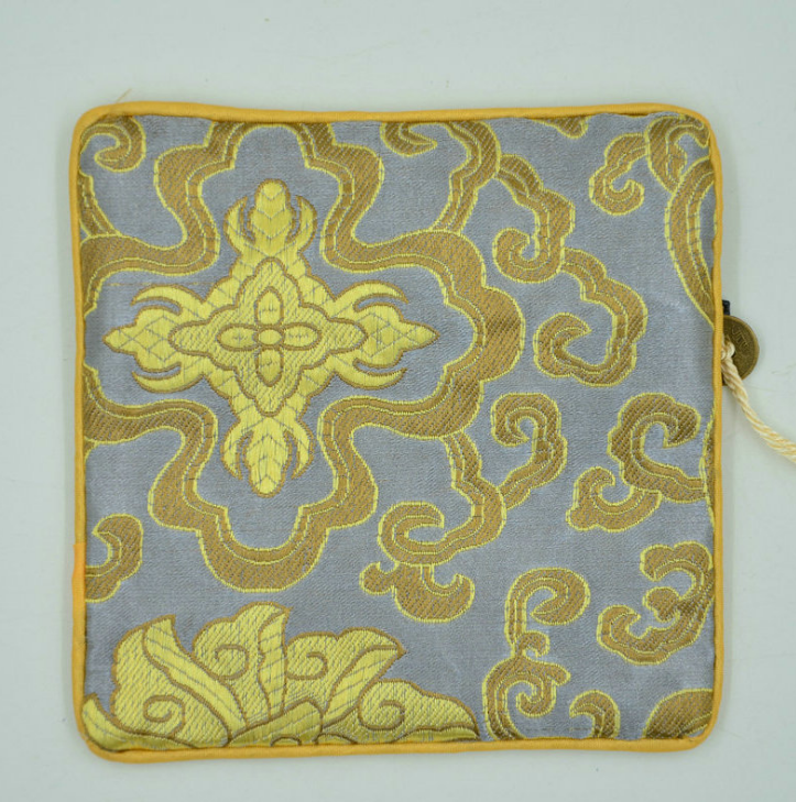 厂家出售 方形刺绣手机零钱包 中国风复古拉链钥匙收纳方包