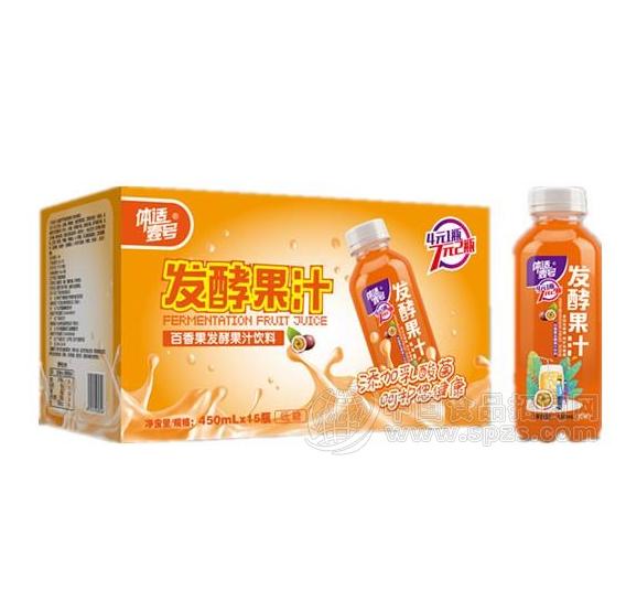 体适壹号百香果味发酵果汁饮料450mlx15瓶