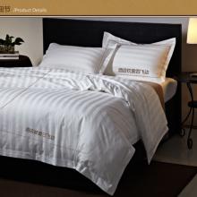 厂家直销订做全棉床单被套回字格五星级酒店床上用品批发