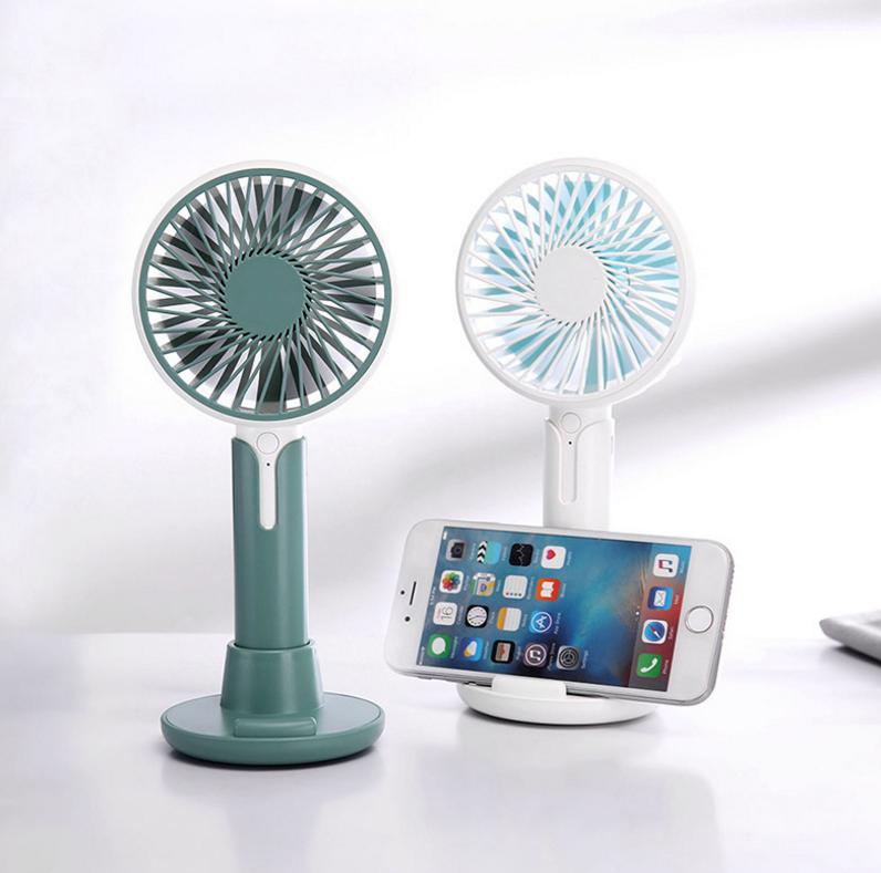 创意简爱二代手持风扇USB充电三档小风扇办公室桌面手机支架风扇