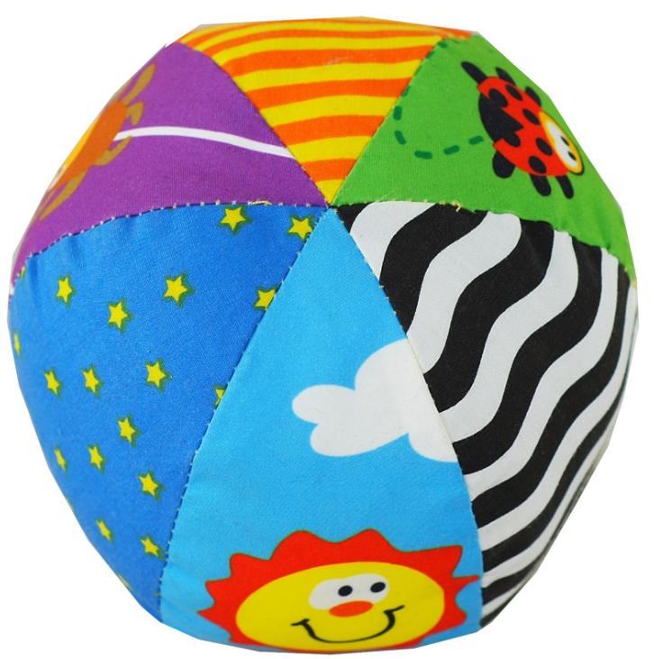 LALABABY拉拉布球手抓球婴儿玩具拉拉布玩六面彩色铃铛球