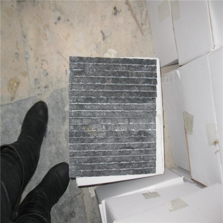 供应文化石蘑菇石 黑色条纹大理石制品 装饰效果典雅古朴对环境无污染