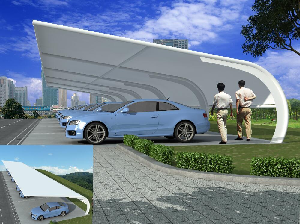 专业设计膜结构停车棚/量身定制