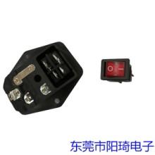 跑步机专用三合一插座丨浙江三合一电源插座丨带开关电源插座厂商图片