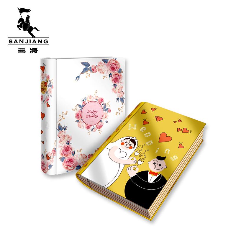 上海制罐厂定制款书本形马口铁盒 婚庆伴手礼铁盒 糖果饼干铁盒