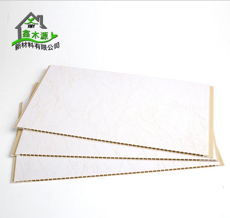厂家直销400石塑集成墙板 全屋整装墙面装饰板石塑快装板