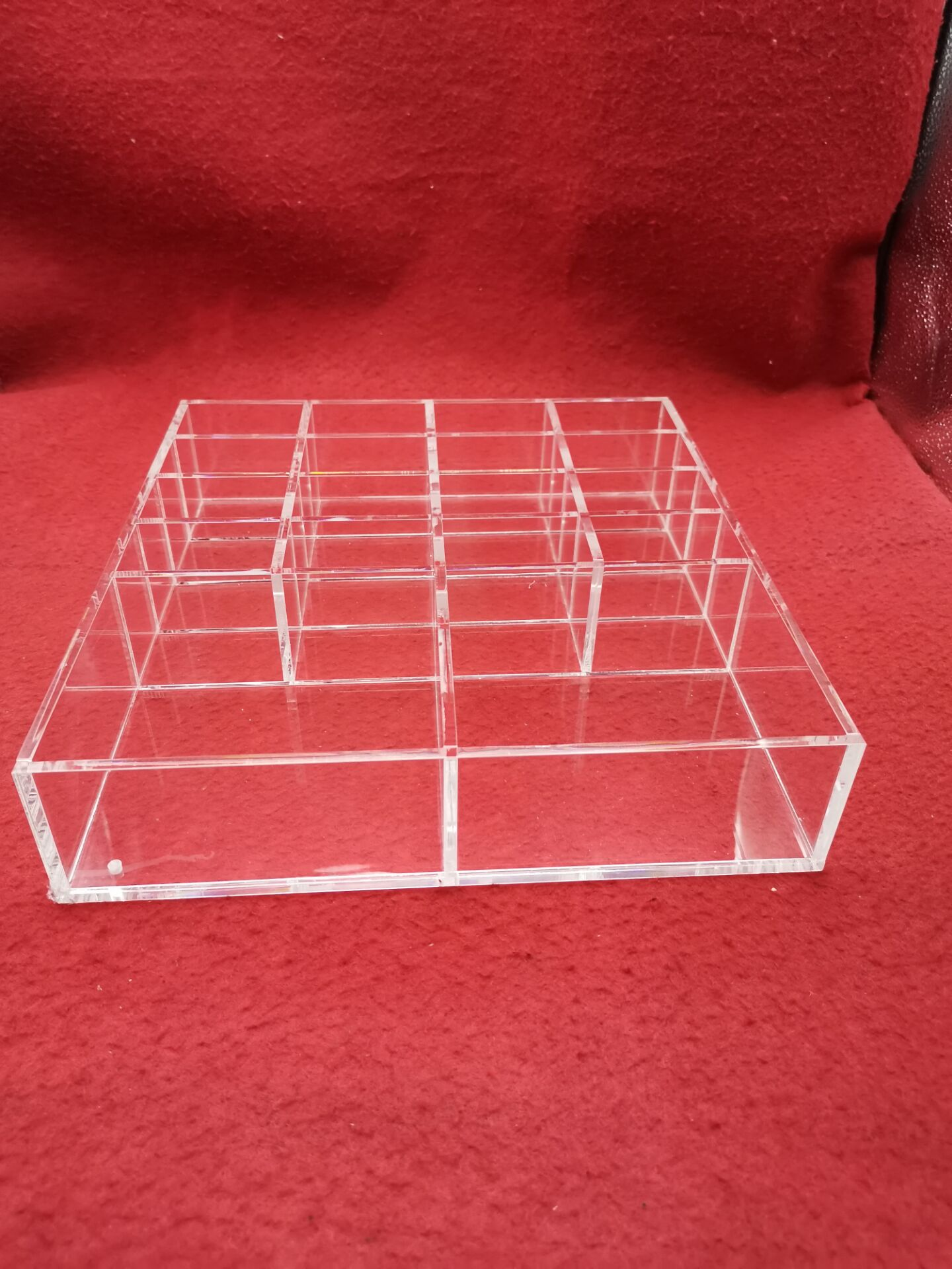 安君有机玻璃亚克力制品厂定制批发加工可拆式粘接格子储物收纳盒