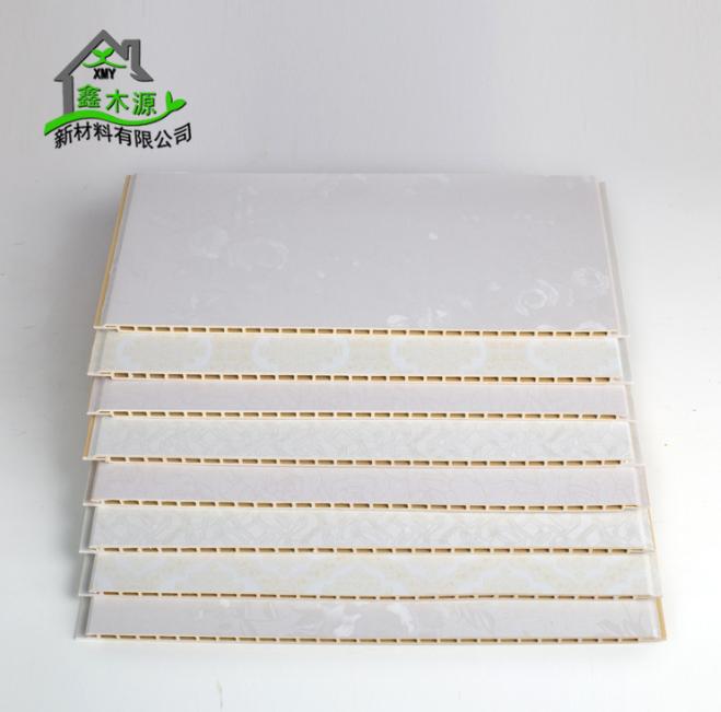 厂家直销竹木纤维集成墙板 整屋快装环保装饰板PVC木塑400护墙板 装饰墙板