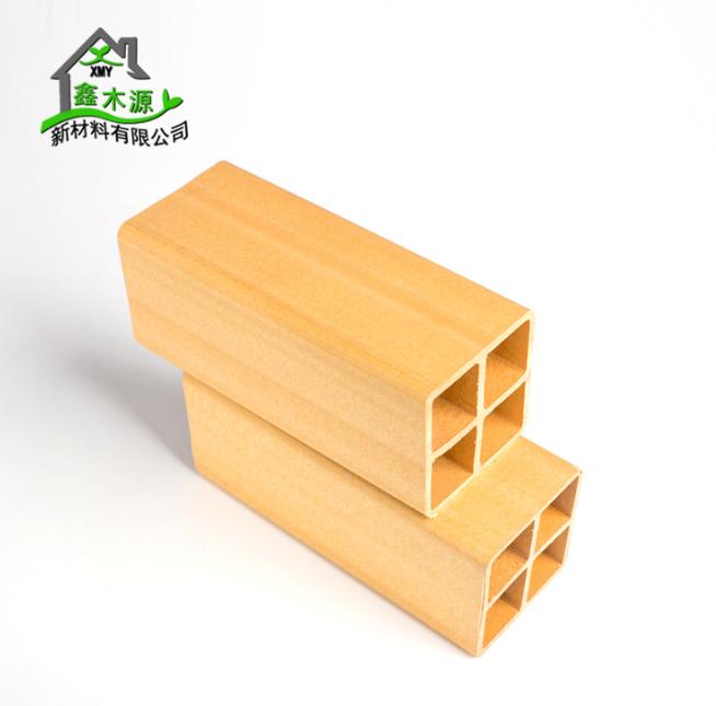 厂家直销生态木方通 室内装修新型装饰材料PVC木塑60*60方木 PVC木塑方木