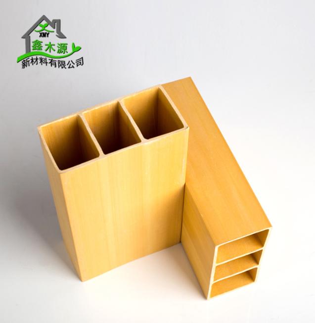 厂家直销生态木方通 室内装修新型装饰材料PVC木塑100*50双筋方木