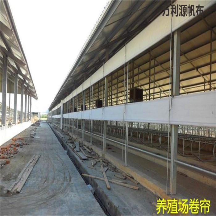 湖南养殖场卷帘布批发厂家,牛场卷帘防风布安装视频,牛场卷帘布多少钱一平米