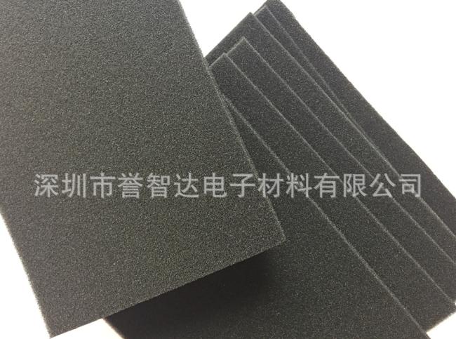 供应高密度高回弹PU海绵垫 加工模切异形成型 防静电防火海绵垫片